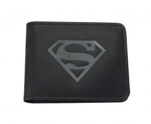 """Кошелек кожаный с полуотделением """"Супермен"""""""