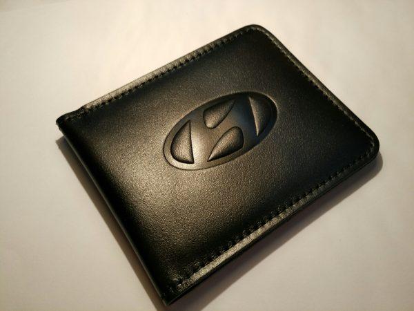 Визитница (Картхолдер) с логотипом авто Hyundai