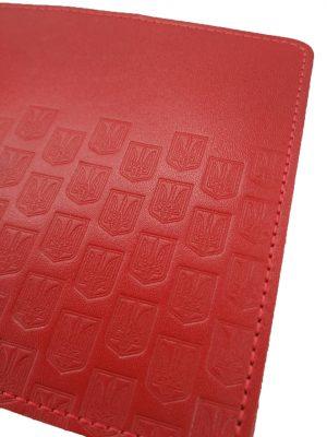 Обложка для паспорта красная с Гербами