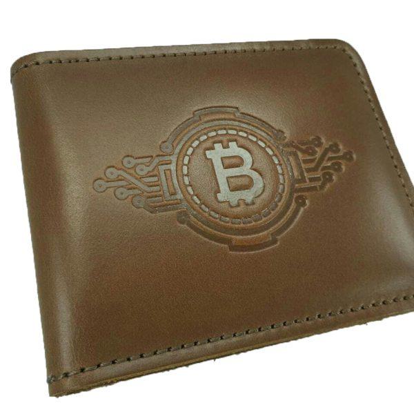 """Кошелек кожаный """"Bitcoin"""""""