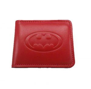 Кошелек кожаный «Бетмен» красный