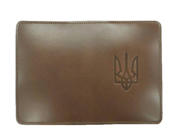 Обложка для паспорта с Гербом коричневая