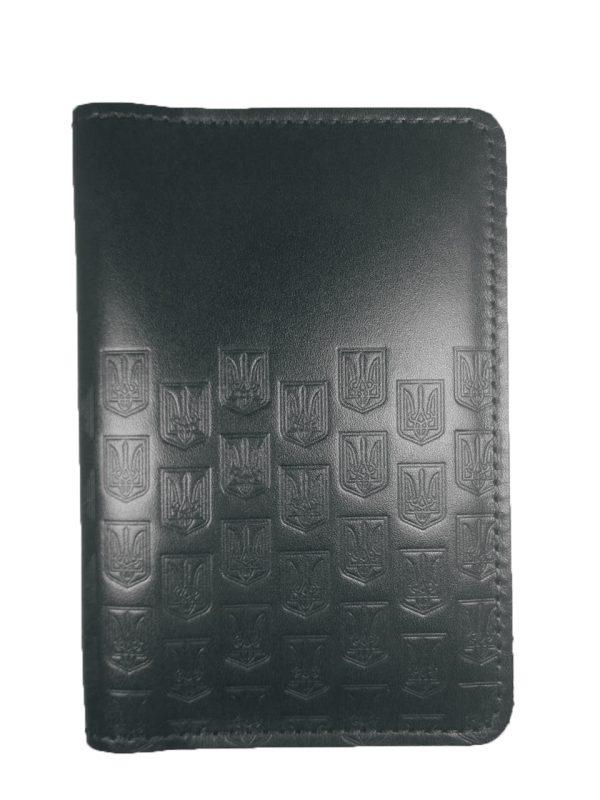 Обложка для паспорта с Гербами черная