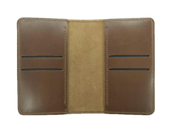 Обложка для паспорта с Гербами коричневая